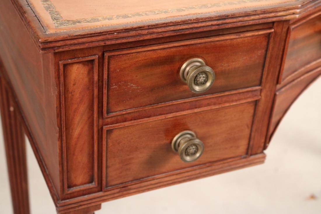 Regency Style Leather-Inset Mahogany Writing Desk - 4