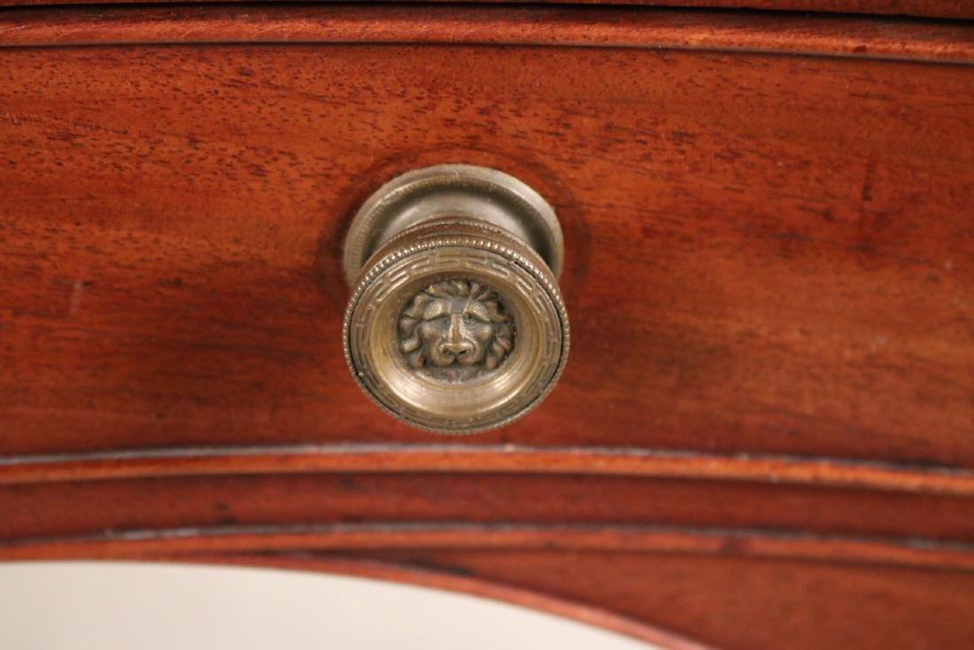 Regency Style Leather-Inset Mahogany Writing Desk - 8