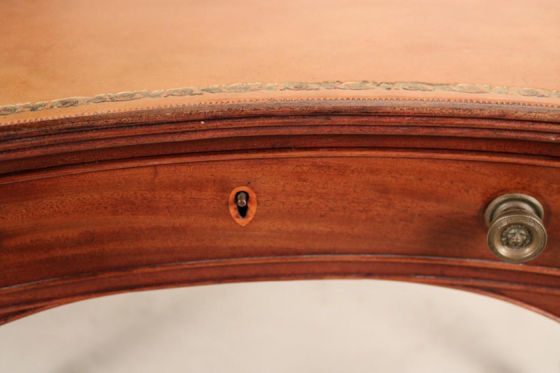 Regency Style Leather-Inset Mahogany Writing Desk - 9