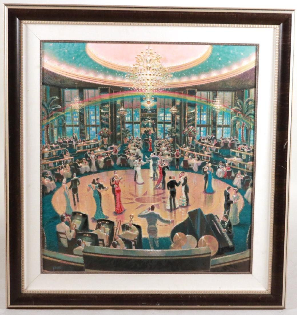 Oil on Board, Dance Hall, Michael Young