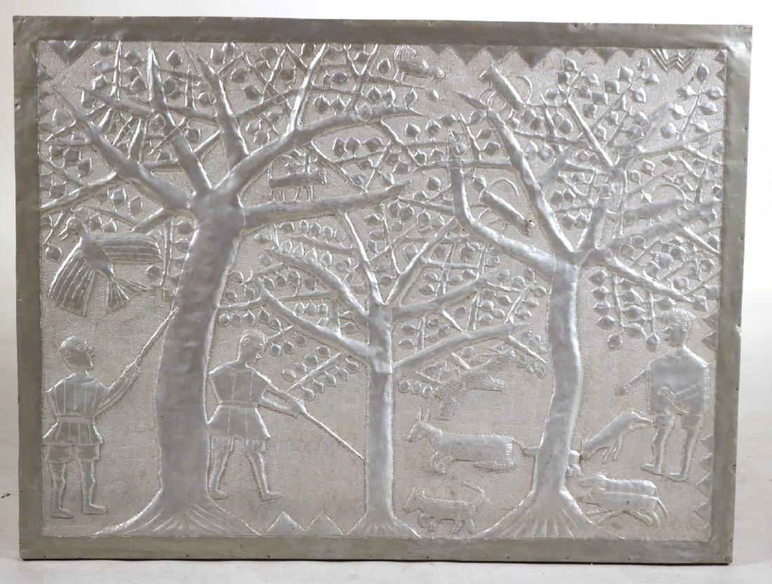 Primitive Style Punched Tin Wall Panel