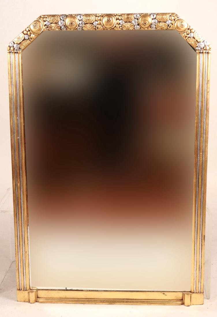 Art Deco Silver-and Gold-Painted Mirror