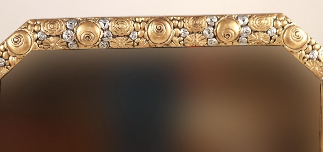 Art Deco Silver-and Gold-Painted Mirror - 5