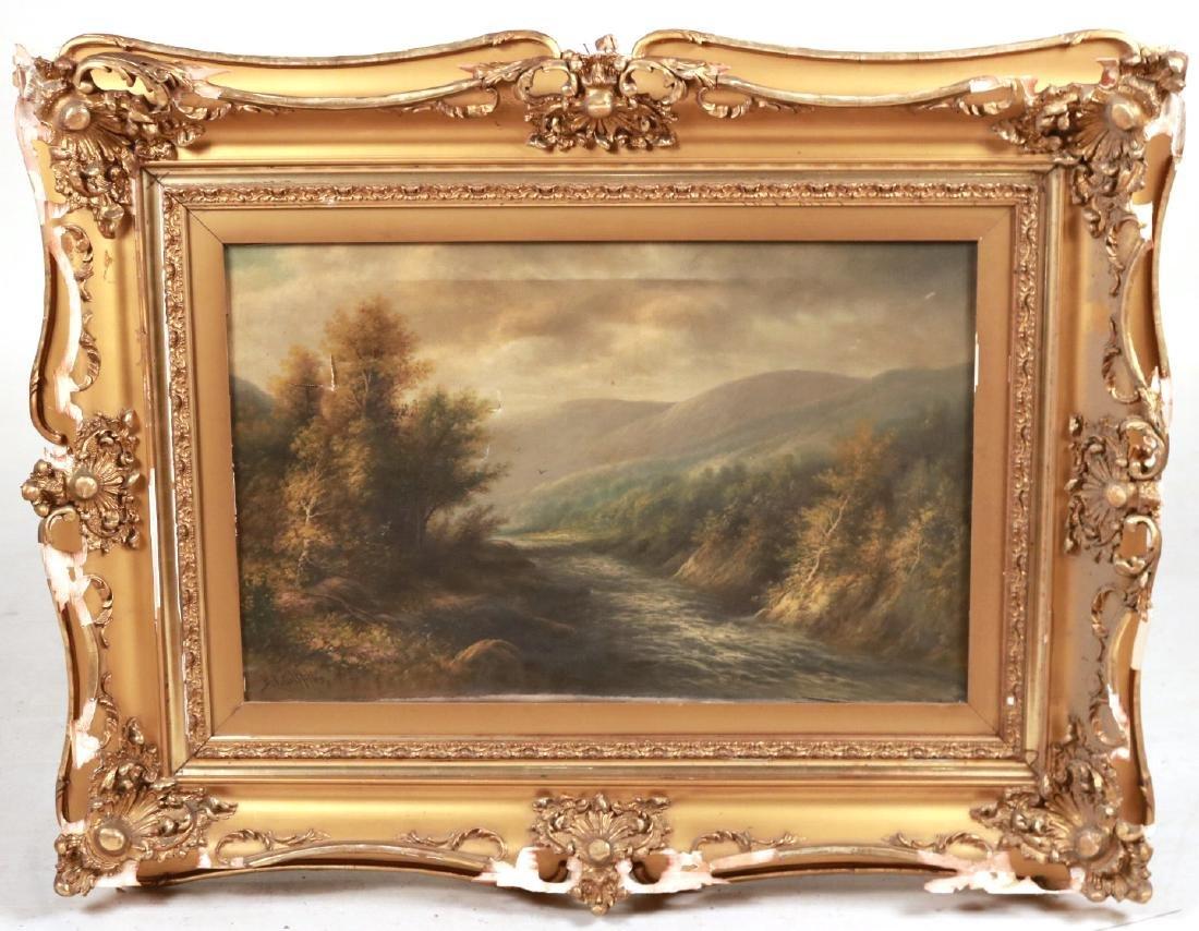 Oil on Canvas, Riverscape, B.T. Griffiths