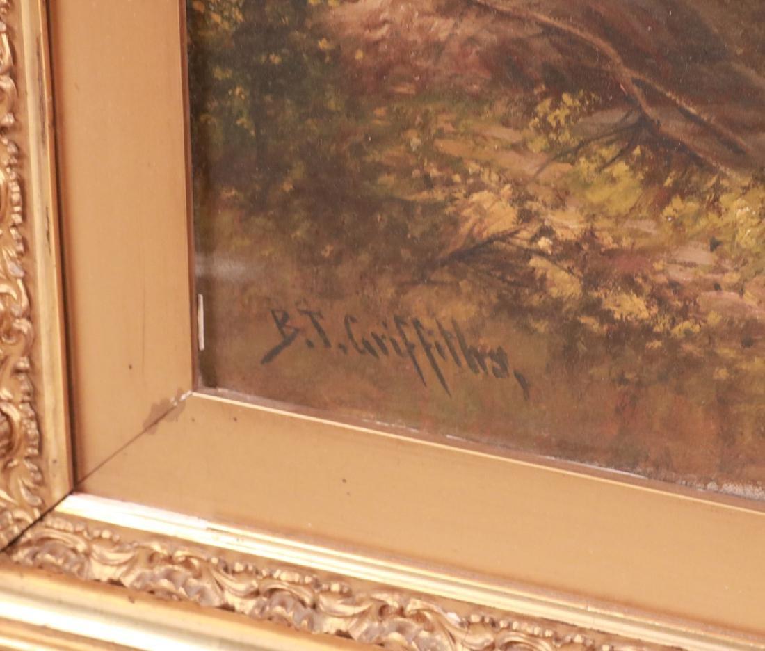 Oil on Canvas, Riverscape, B.T. Griffiths - 5