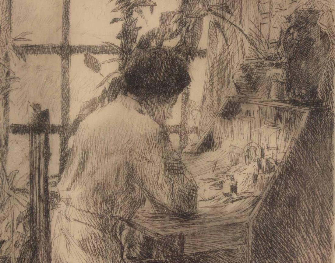 "Etching, ""The Writing Desk,"" Childe Hassam - 4"