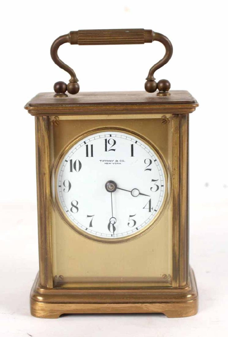 Tiffany & Co. Brass Carriage Clock
