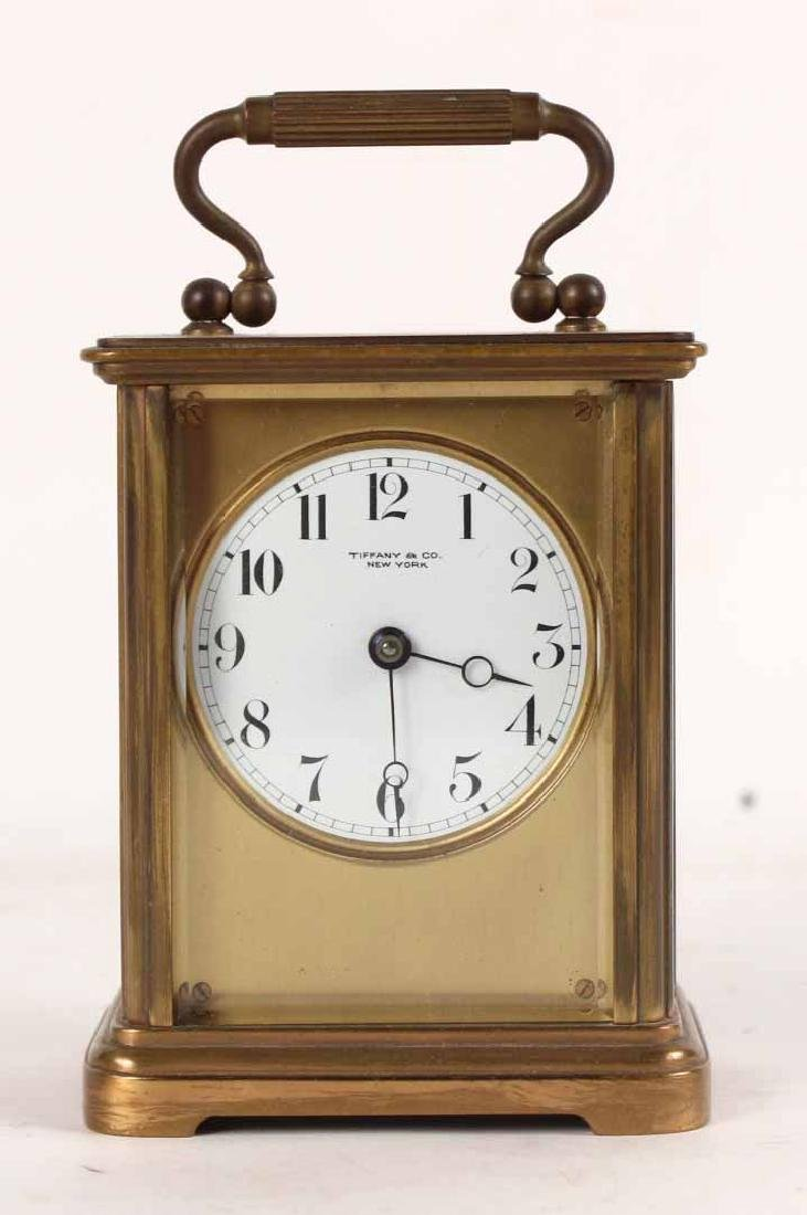 Tiffany & Co. Brass Carriage Clock - 2