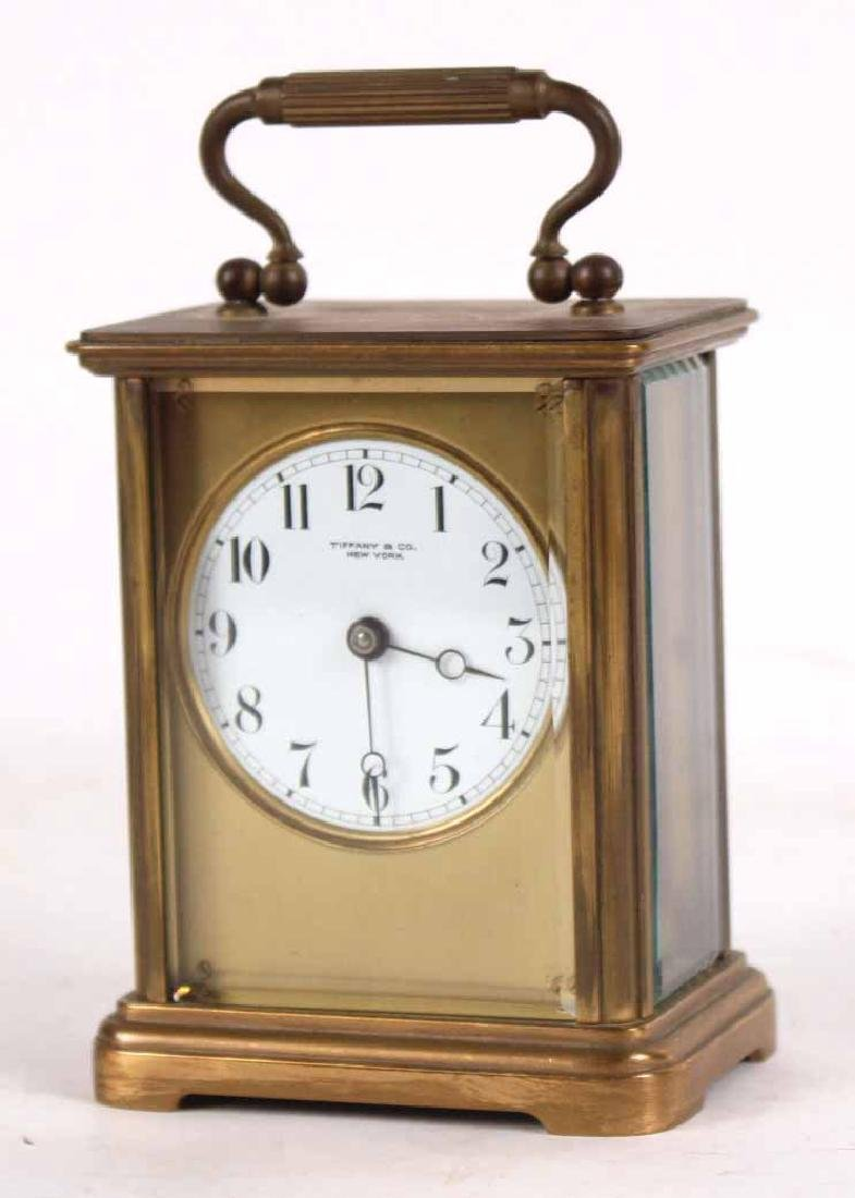 Tiffany & Co. Brass Carriage Clock - 3