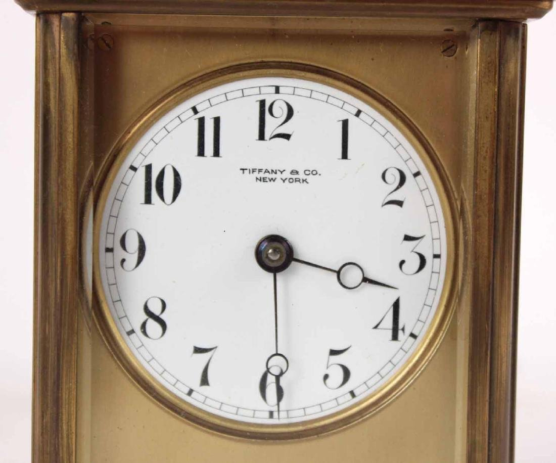 Tiffany & Co. Brass Carriage Clock - 4