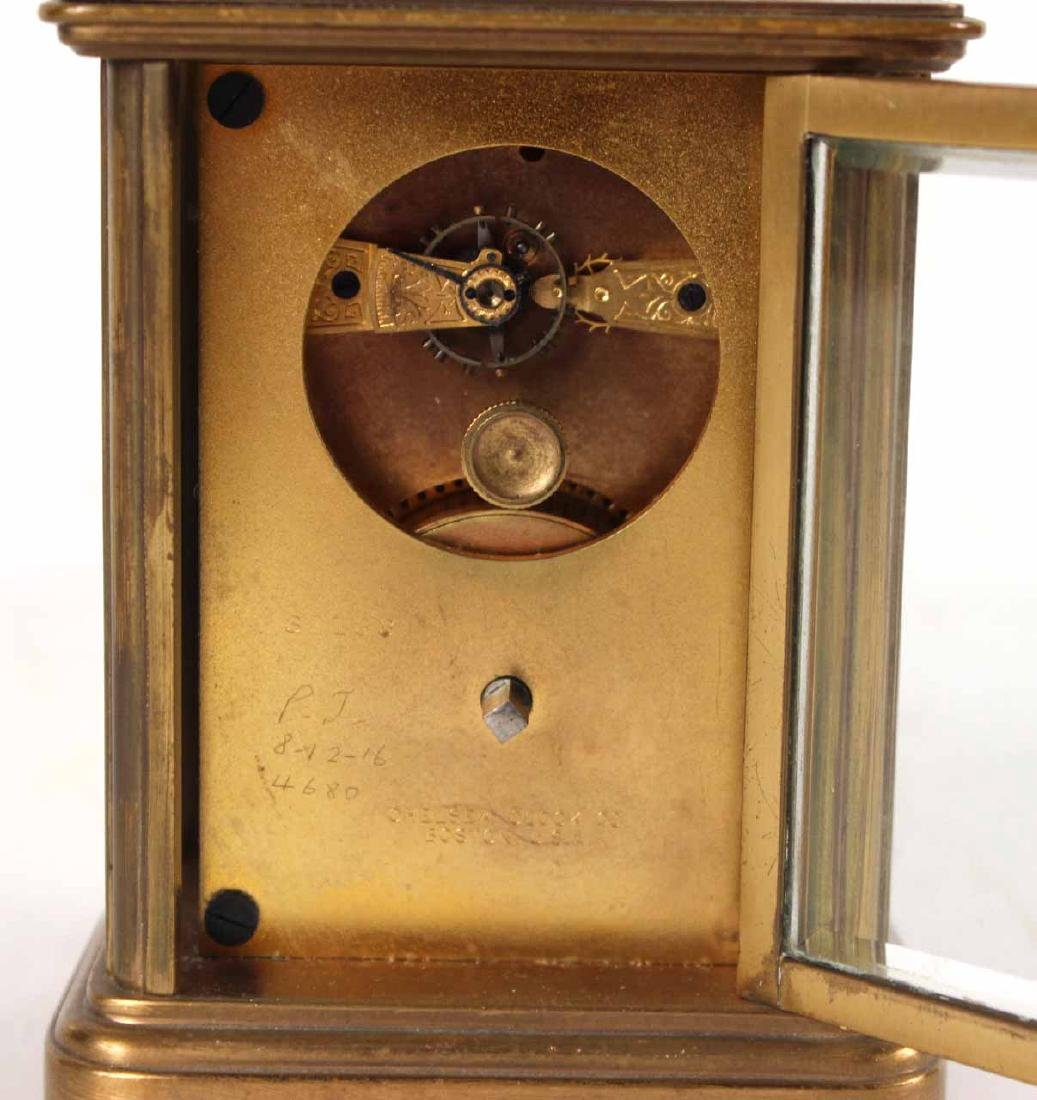 Tiffany & Co. Brass Carriage Clock - 5