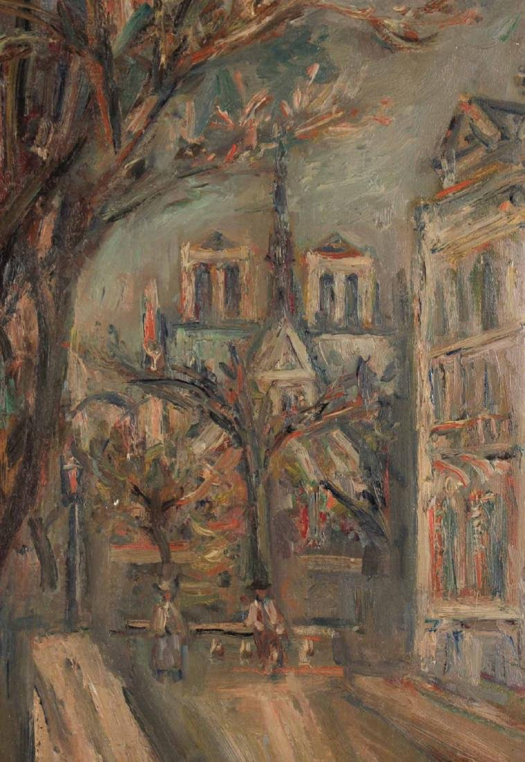 Oil on Canvas, Parisian Canal, Jacques Zucker - 6
