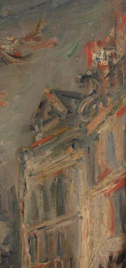 Oil on Canvas, Parisian Canal, Jacques Zucker - 8