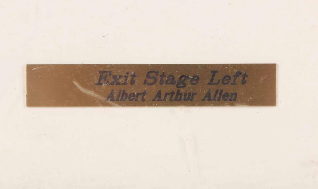 "Print, ""Exit Stage Left,"" Albert Arthur Allen - 3"