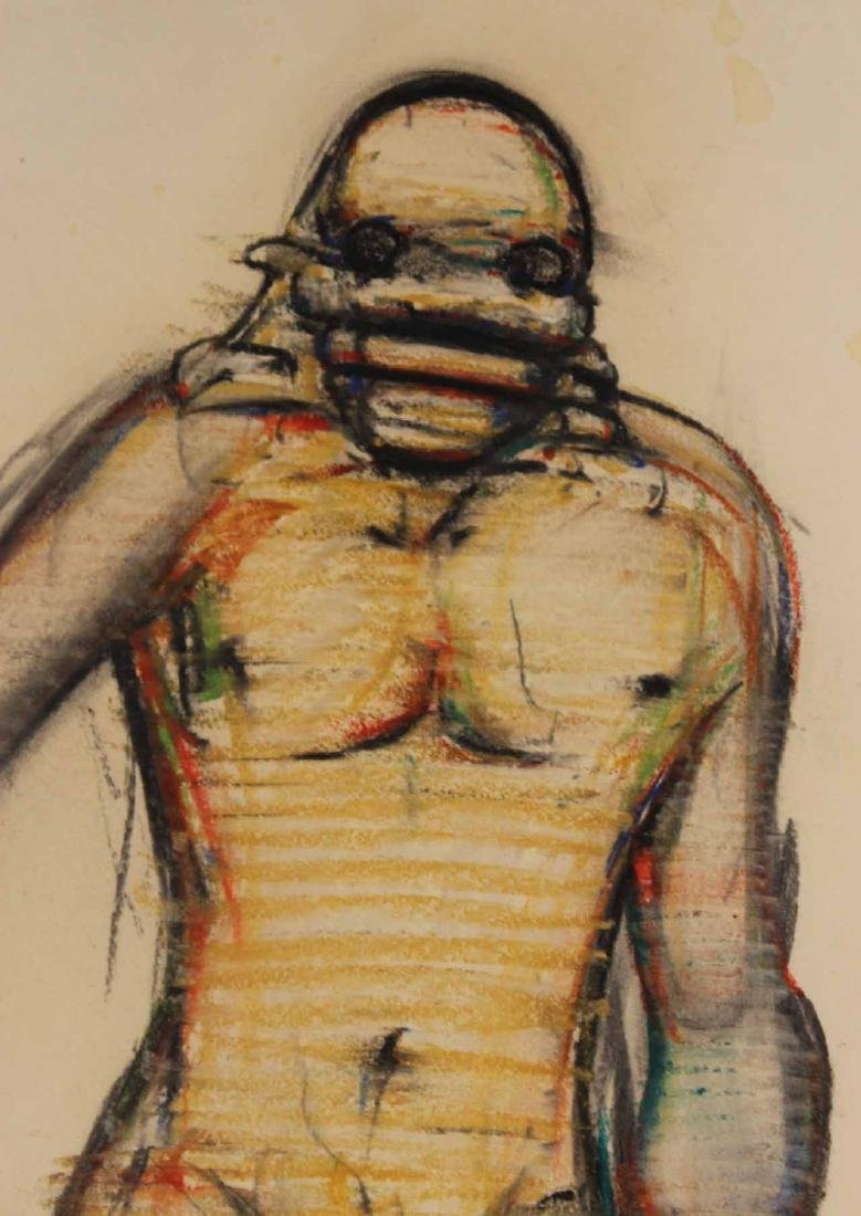 Mixed Media on Paper, Abstract Nude Man - 4