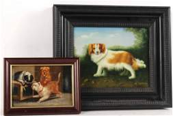 Two Oil Paintings of Dogs