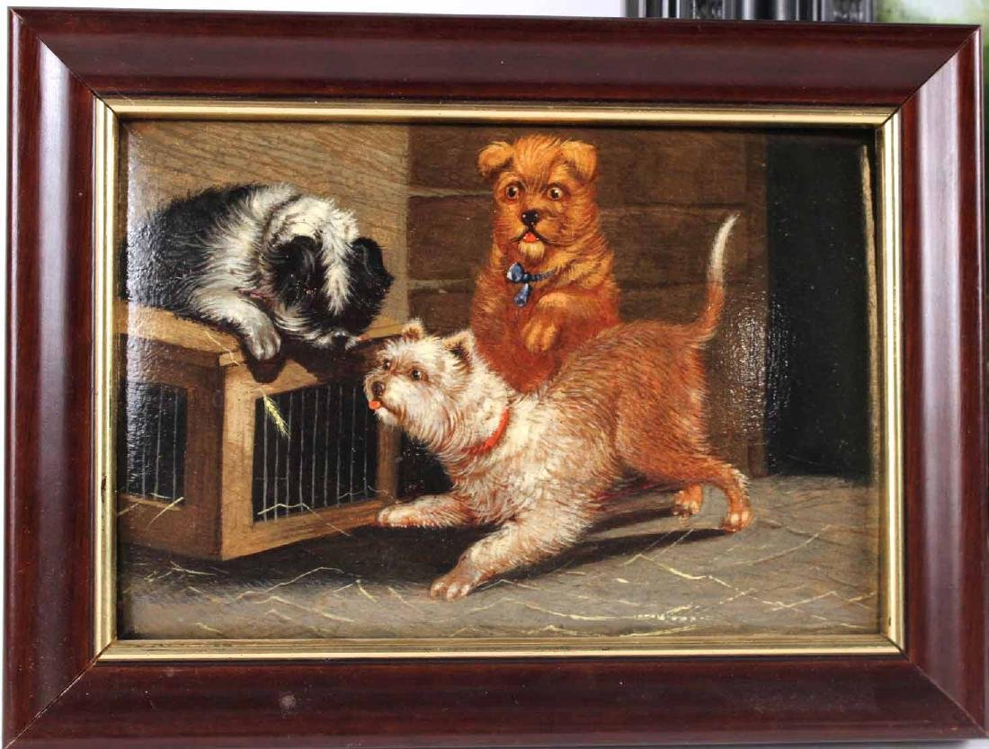 Two Oil Paintings of Dogs - 2