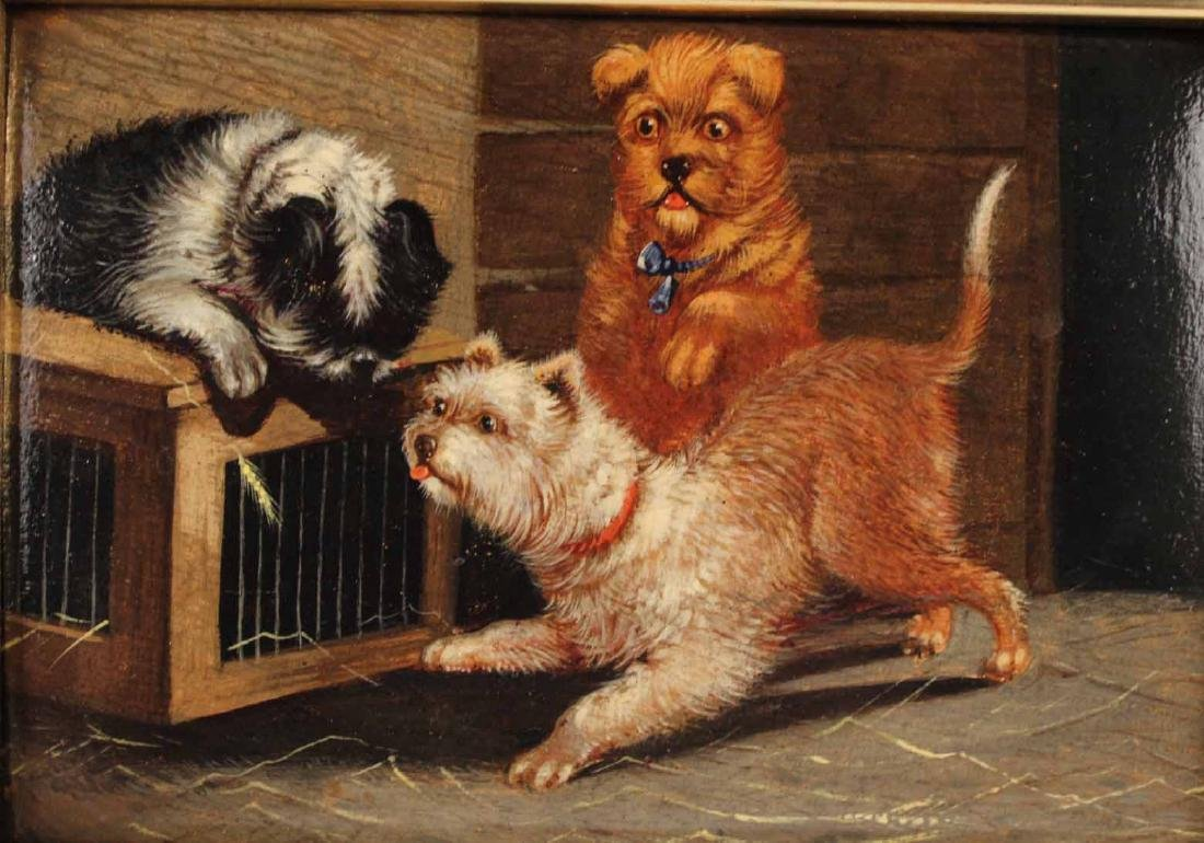 Two Oil Paintings of Dogs - 3