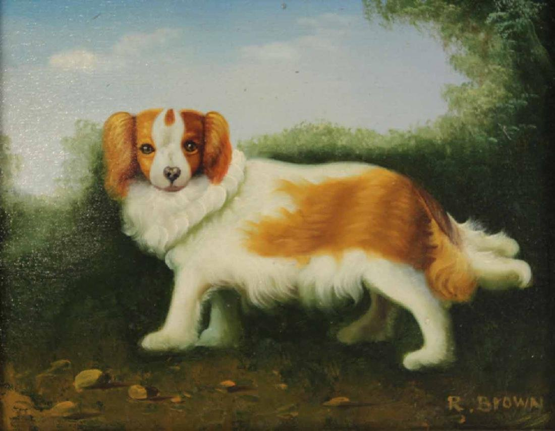 Two Oil Paintings of Dogs - 4