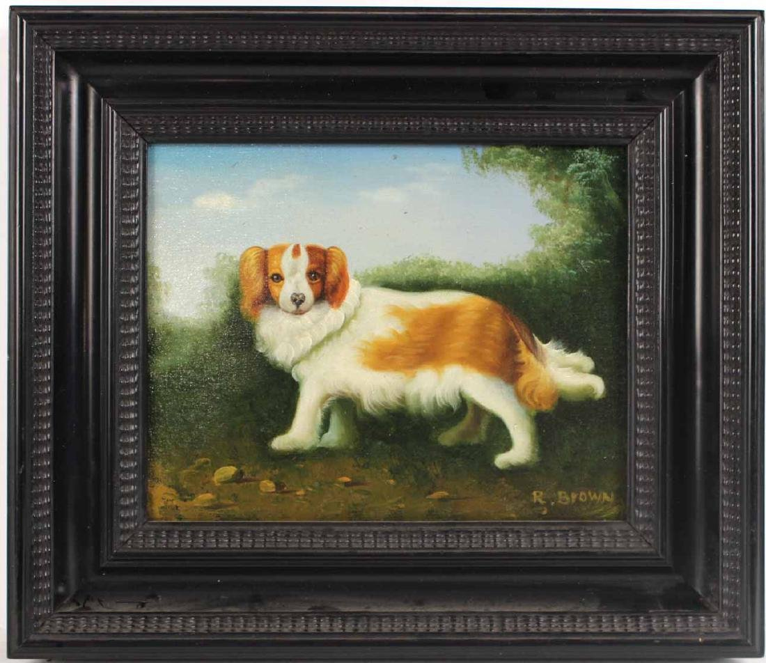 Two Oil Paintings of Dogs - 5