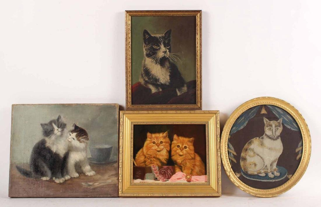 Three Paintings of Cats