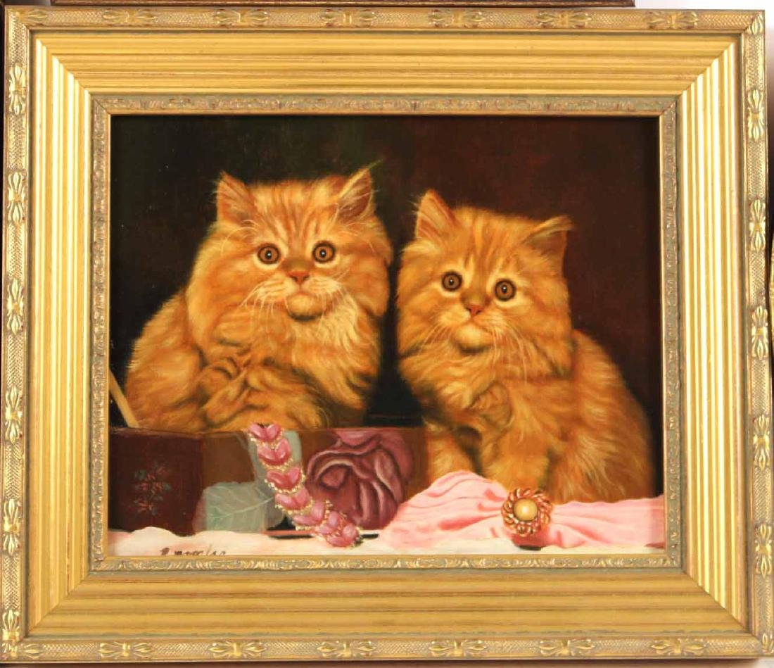Three Paintings of Cats - 3