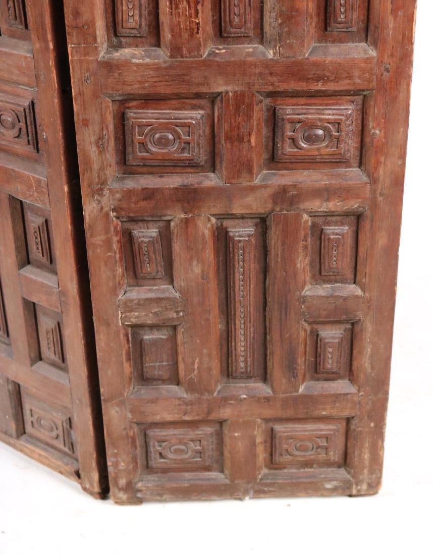 Elizabethan Style Carved Pine Two Panel Screen - 4