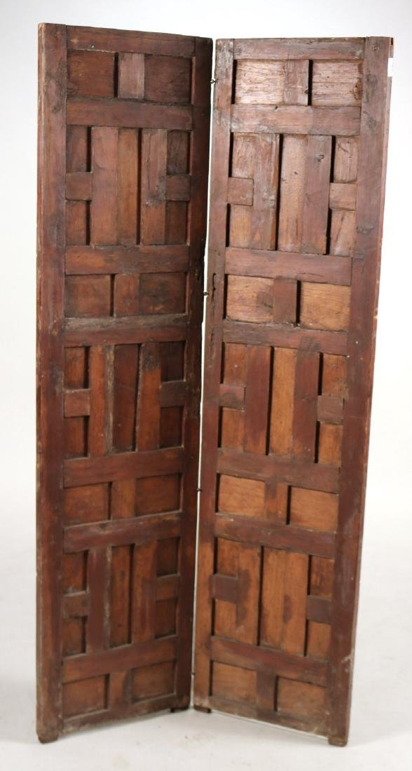 Elizabethan Style Carved Pine Two Panel Screen - 5