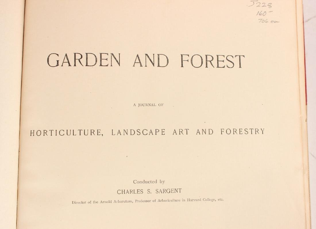"Four Volumes ""Garden and Forest"" 1894- -1897 - 4"