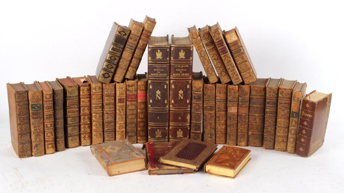 Group of Leather Bound French Language Books