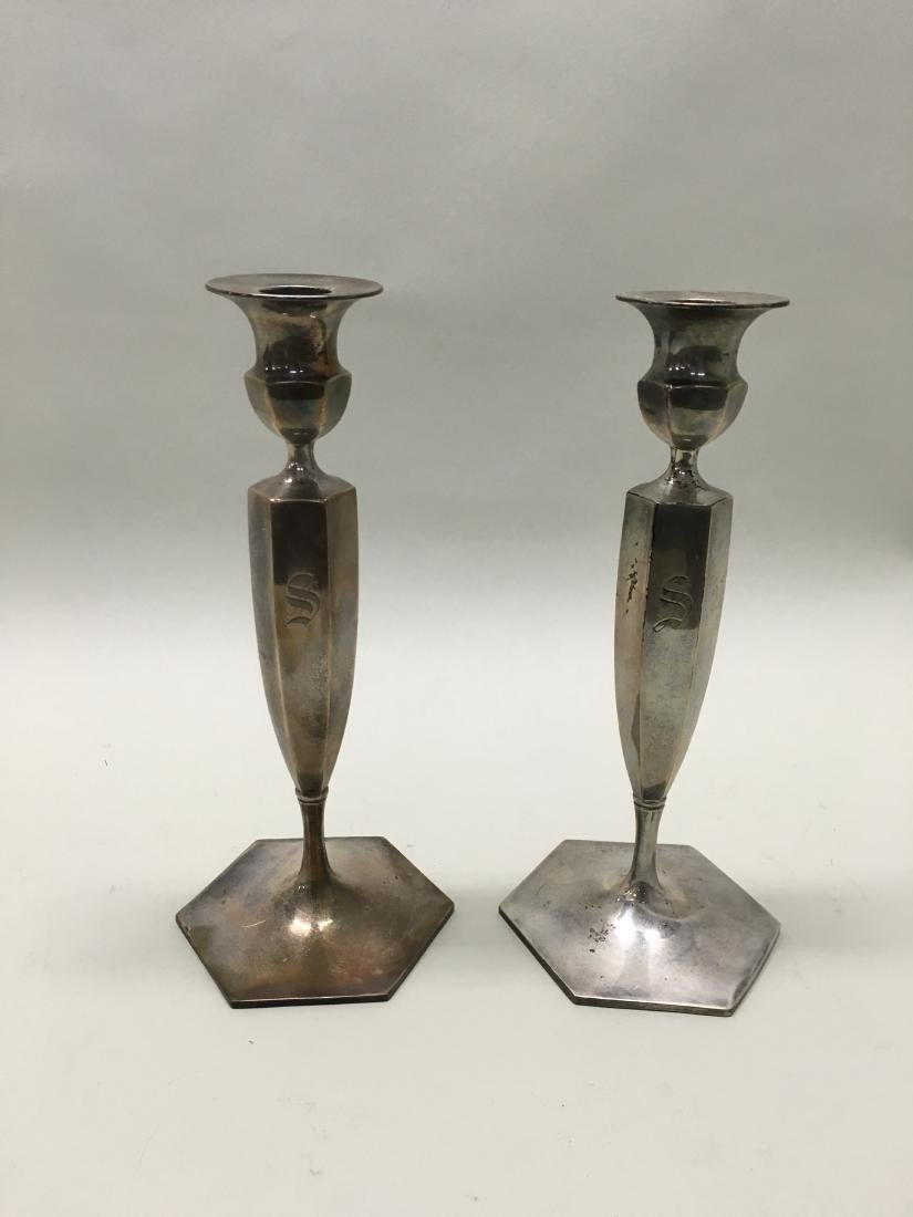 STERLING SILVER WEIGHTED CANDLESTICKS