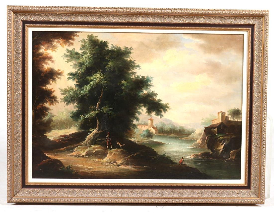 OIL ON CANVAS COUNTRY LANDSCAPE