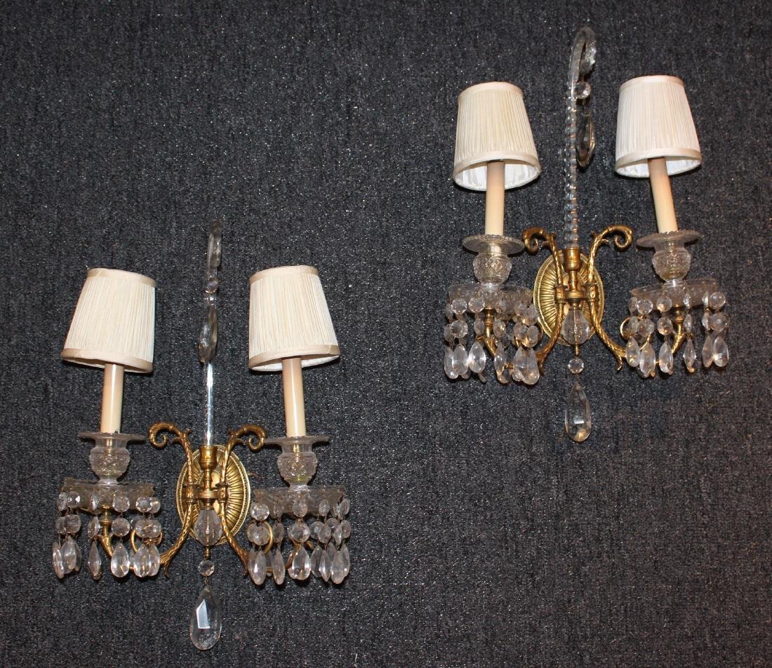 Pair of George III Style Two-Light Wall Sconces