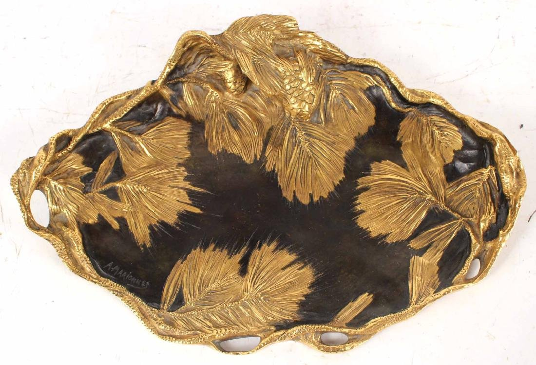 Louis XV Style Gilt-and-Patinated Bronze Tray
