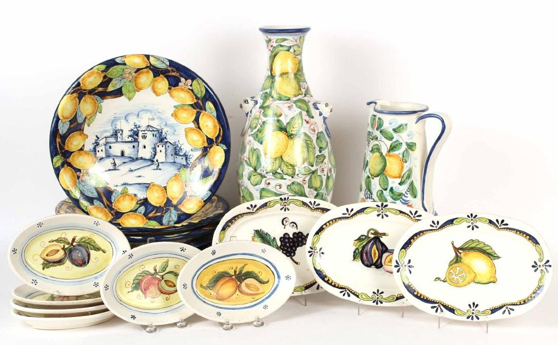 Group of Tin-Glazed Earthenware Table Articles
