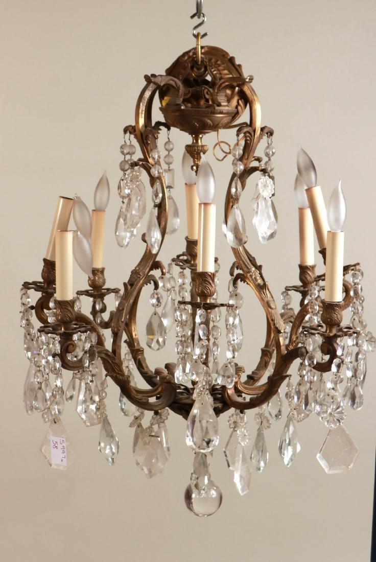 Louis XV Style Eight-Light Chandelier