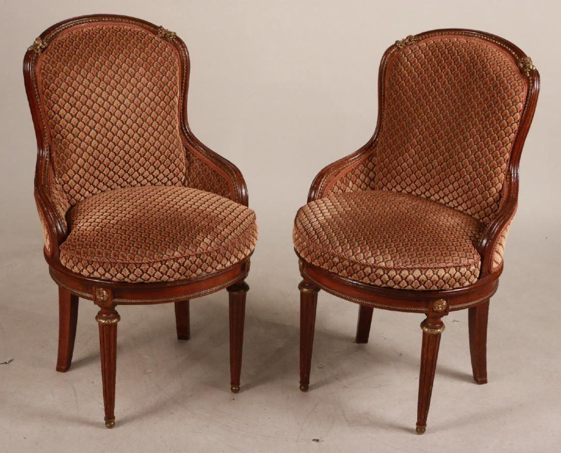 Pair of Louis XVI Style Mahogany Side Chairs