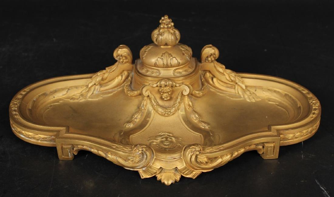 Louis XVI Style Gilt-Bronze Desk Garniture