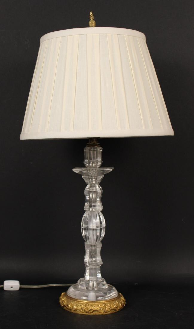 Gilt-Bronze Rock Crystal Table Lamp