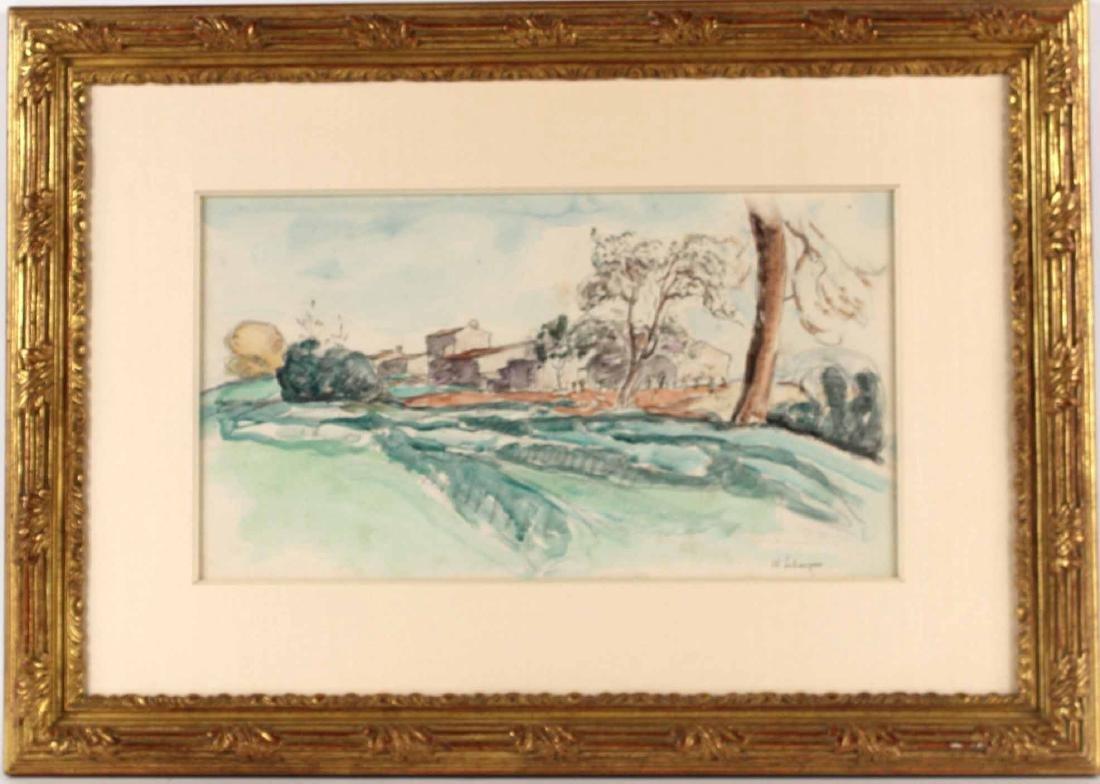 Watercolor and Pencil, Landscape, Henry Labasque
