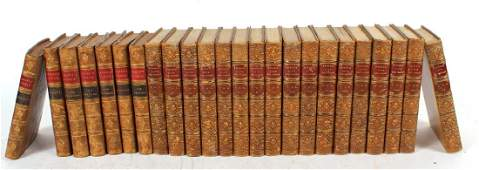 Seventeen Leather-Bound Volumes of Byron's Works