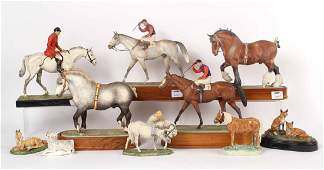 Four Royal Worcester Porcelain Horse Figures