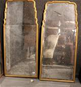 Pair of George I Style Giltwood Mirrors