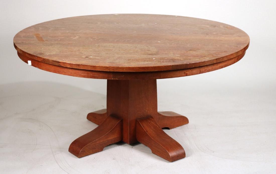 Gustav Stickley Oak Dining Table