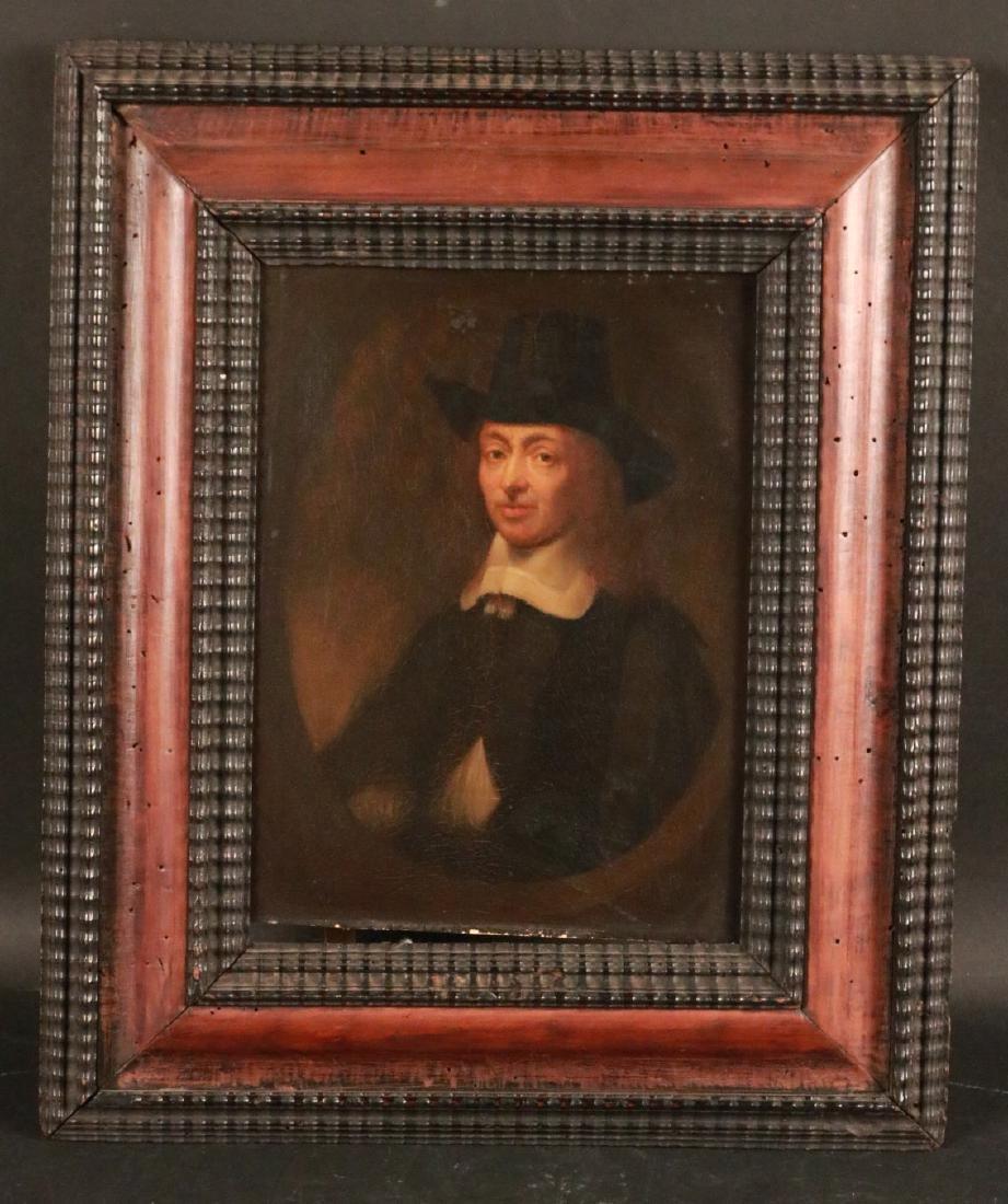 Oil on Panel, Portrait of Sir Constantijn Huygens