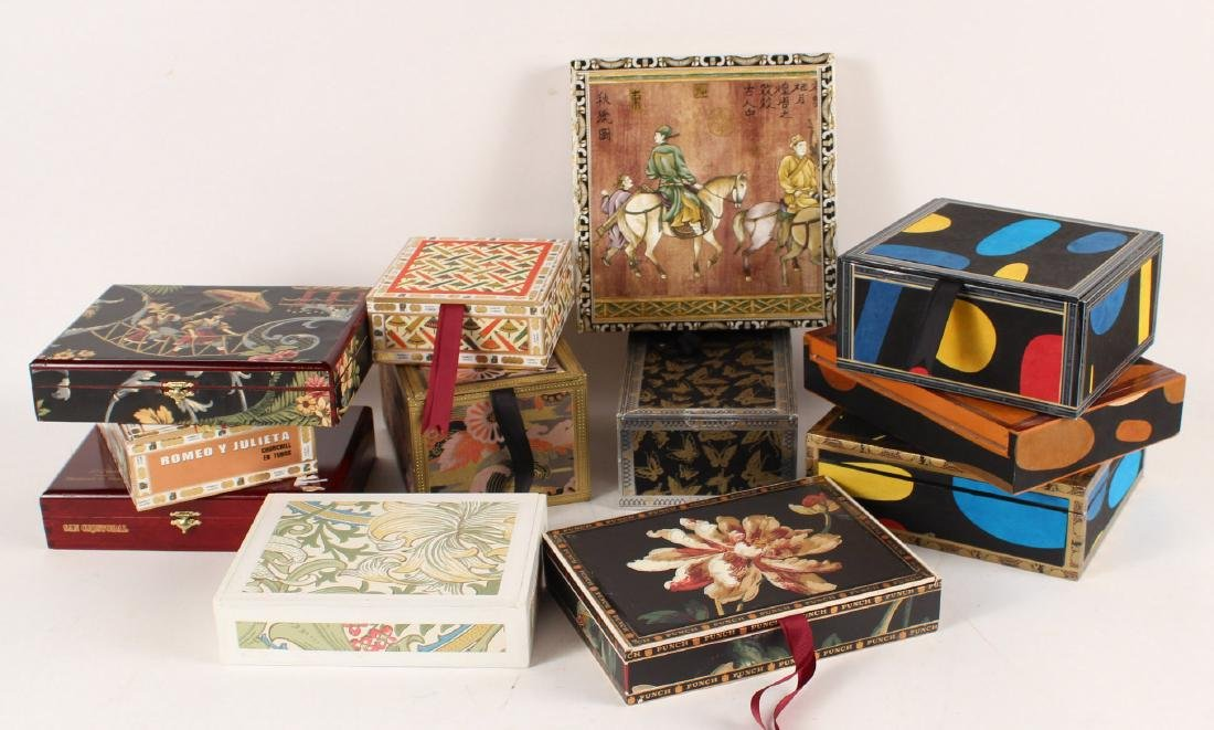 Box of Hand Painted Gift Boxes