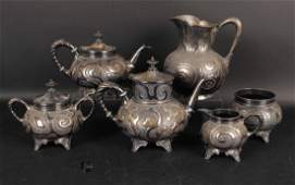 Meriden Five Piece Silver Plated Tea Service