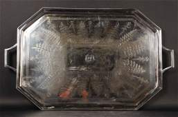 HB HS Silver Plated Double Handled Tea Tray