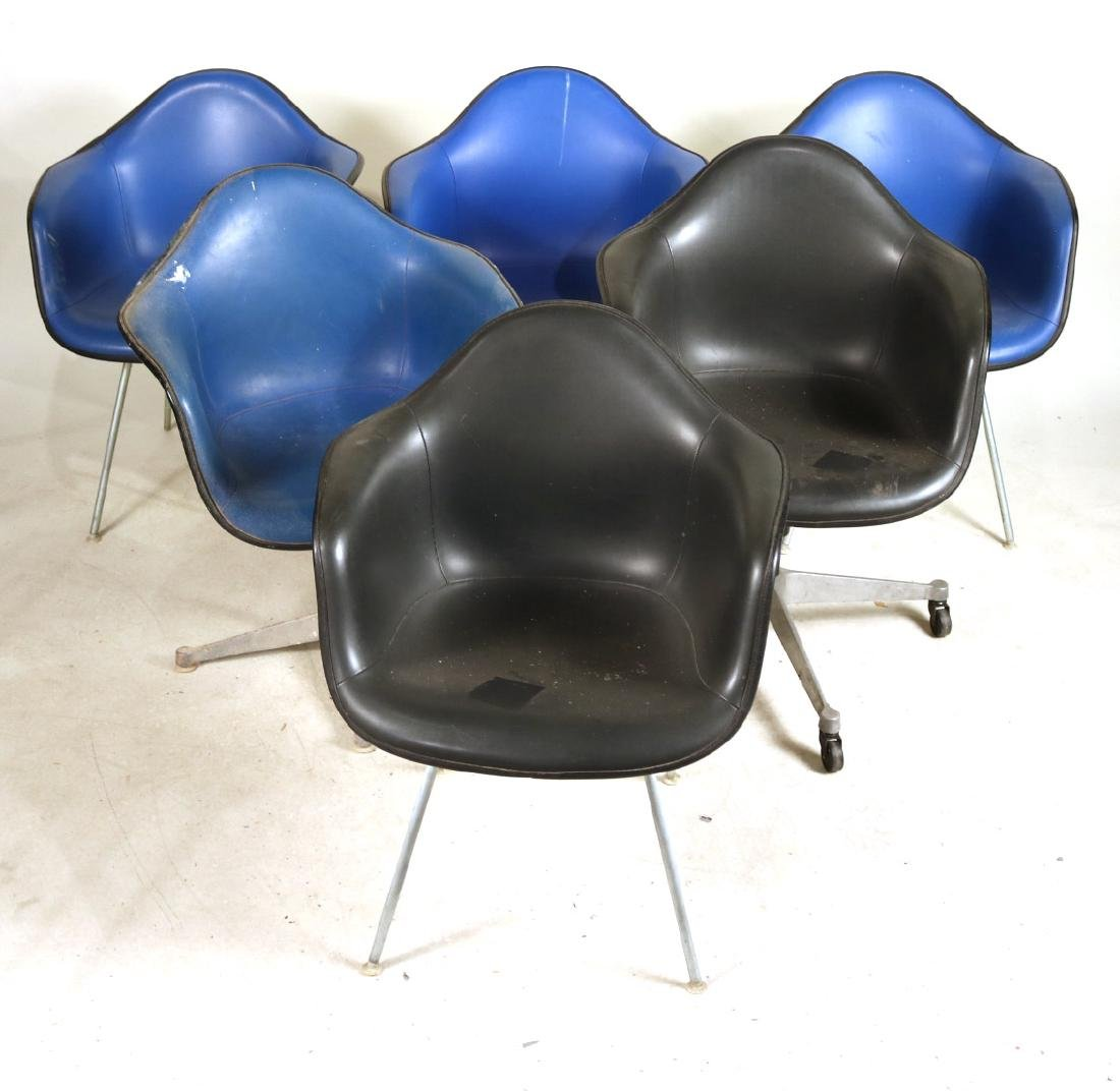 Six Herman Miller Shell Chairs