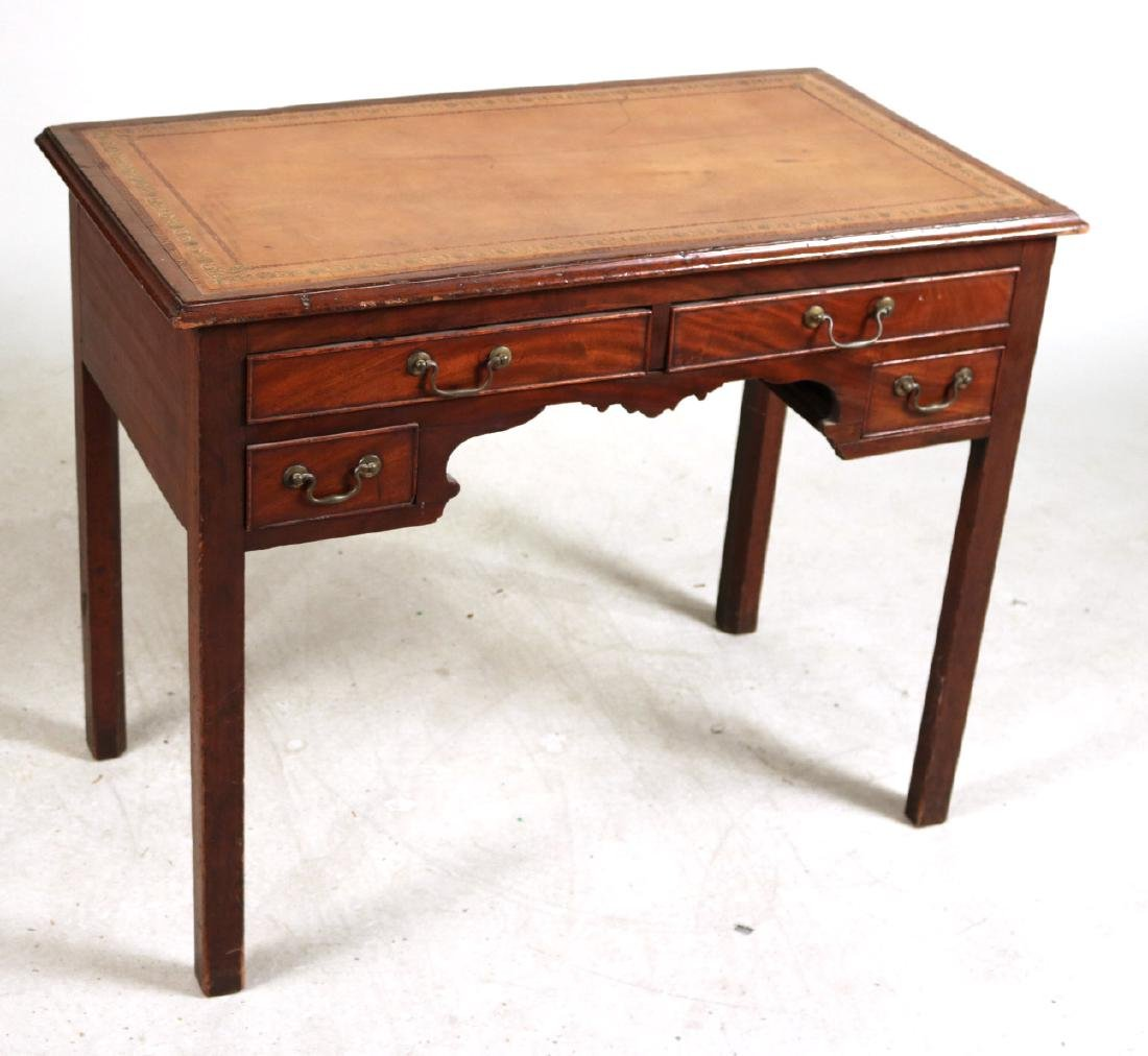 George III Leather-Inset Mahogany Writing Desk